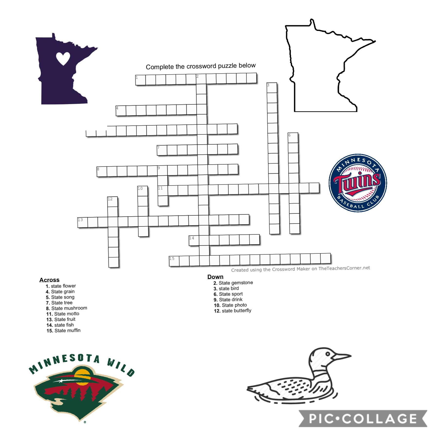 Stuff for Minnesota history in school 😂