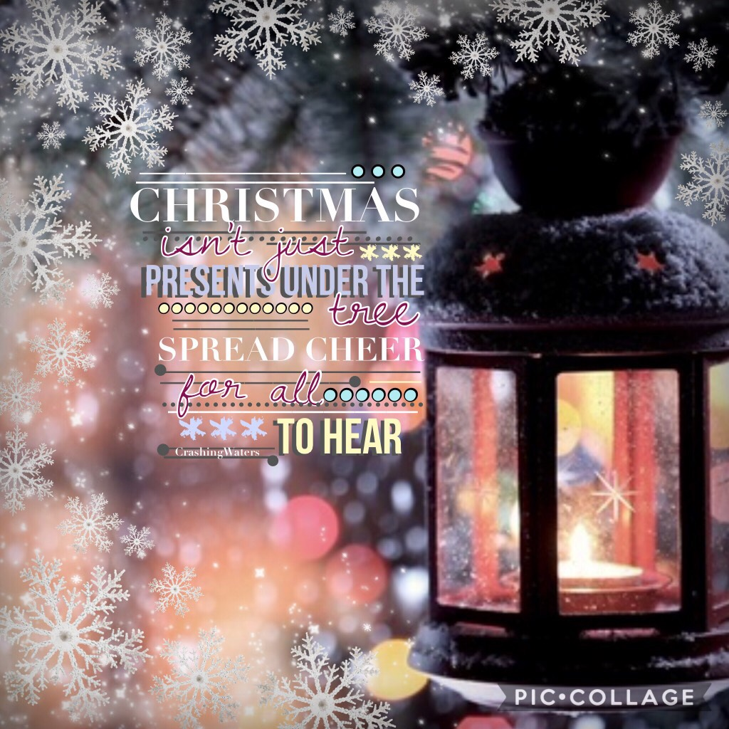 Christmas is getting closer💜🎄I may start a Christmas message thing soon❄️tell someone that inspires you or you love their account but never got to say by giving them a lovely comment of remix to show you care💓brighten someone's day! What are you all looki