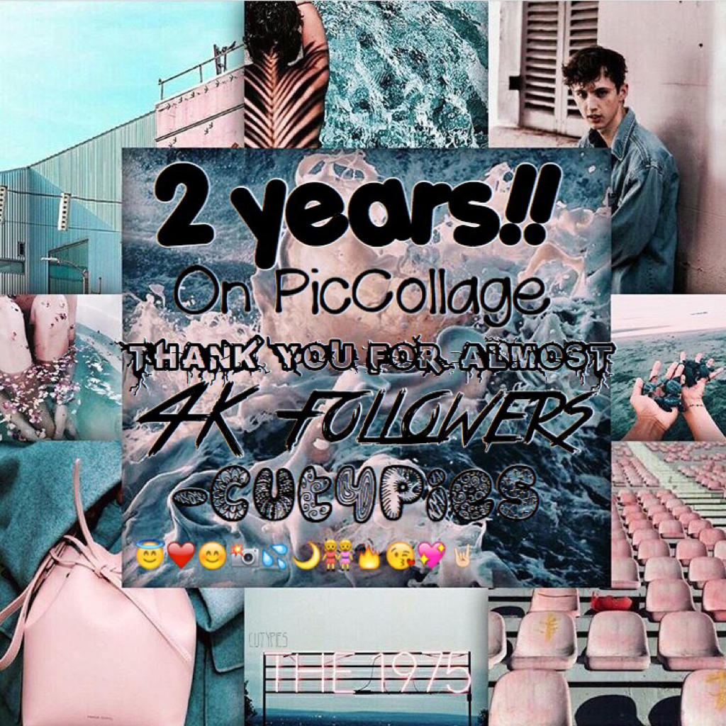2 YEARS ON PICCOLLAGE!!! ❤️🤘🏻 Thanks cuties for 4K!! 😍🔥 Ahhh we are getting close to my hacked account that had 8k 😘👊🏻 You guys mean the world to me 💖