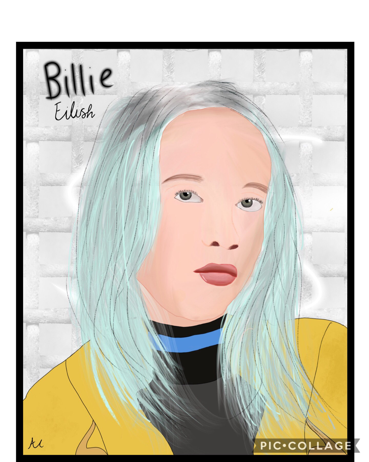 Billie Eilish  drawn on Pro Create