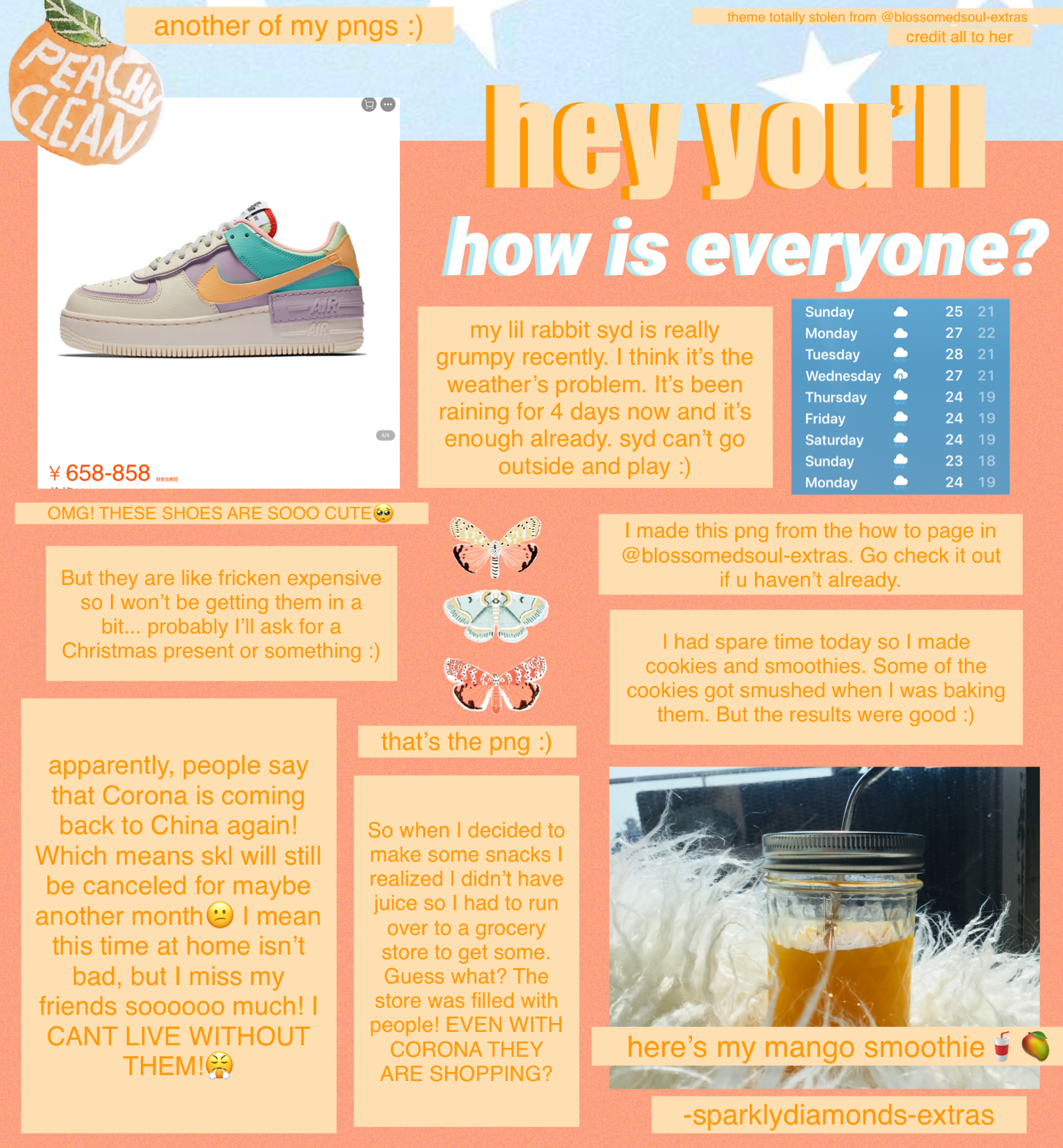 I want those shoes sooooooo much ~tap~  I can't wait for Christmas! btw, I wish the weather will clear up next week and give me some sUnShInE 🌞 I really need! my lil syd needs it too🥺🐰