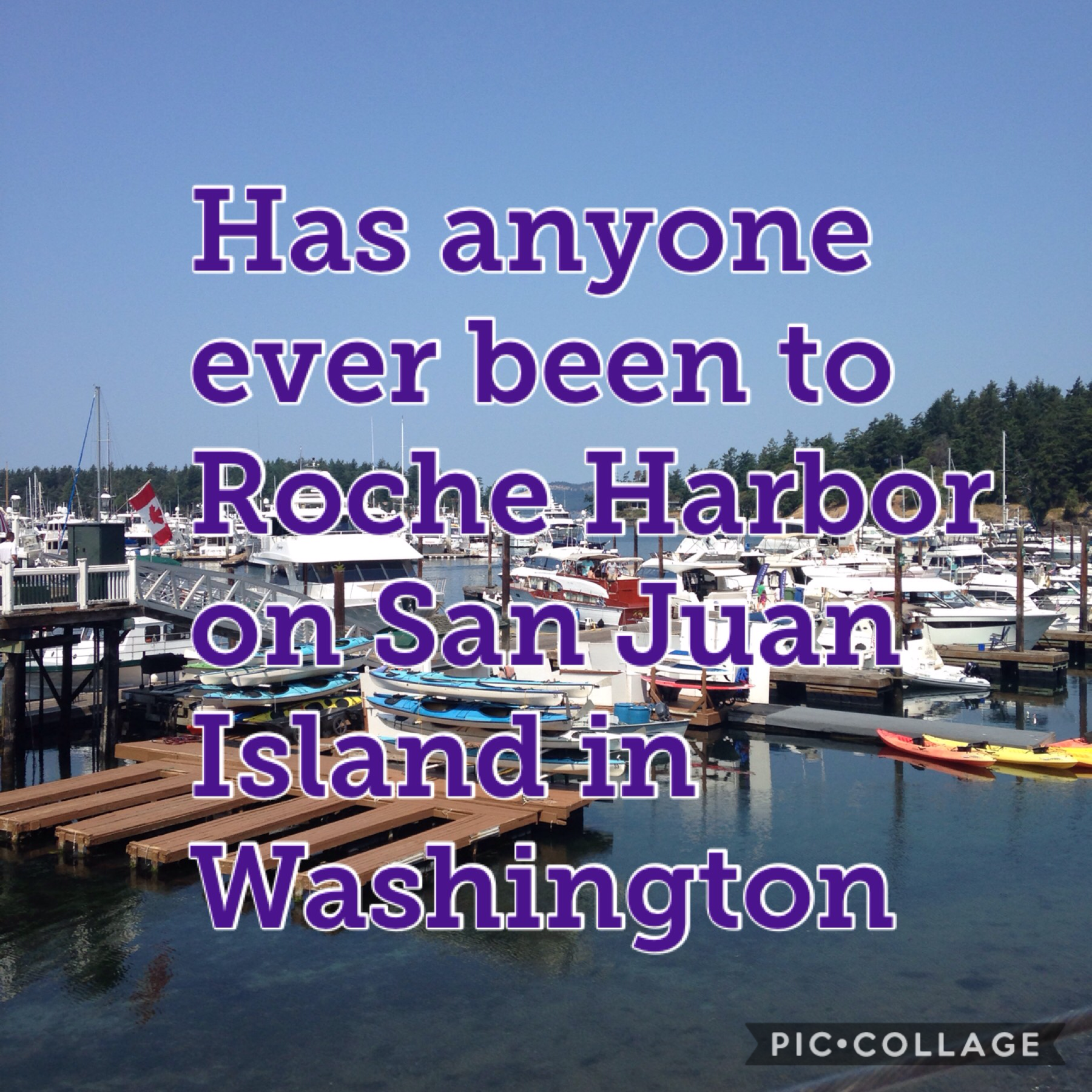 The picture is form Roche Harbor and it was a blast