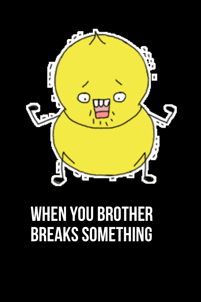 When you brother breaks something
