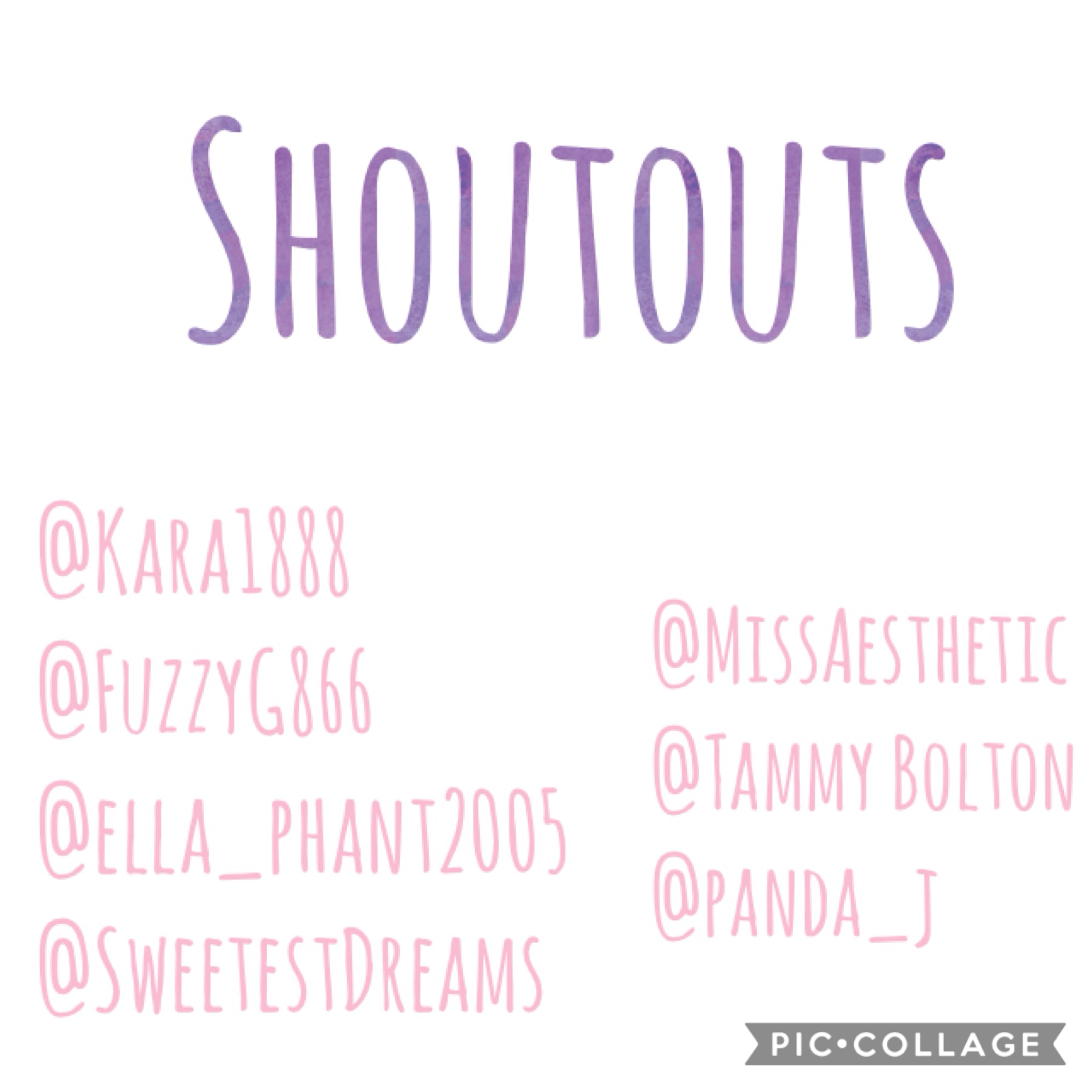 #taptap 💫✨⭐️ #shoutouts make sure to follow all these amazing people!! 💖💖