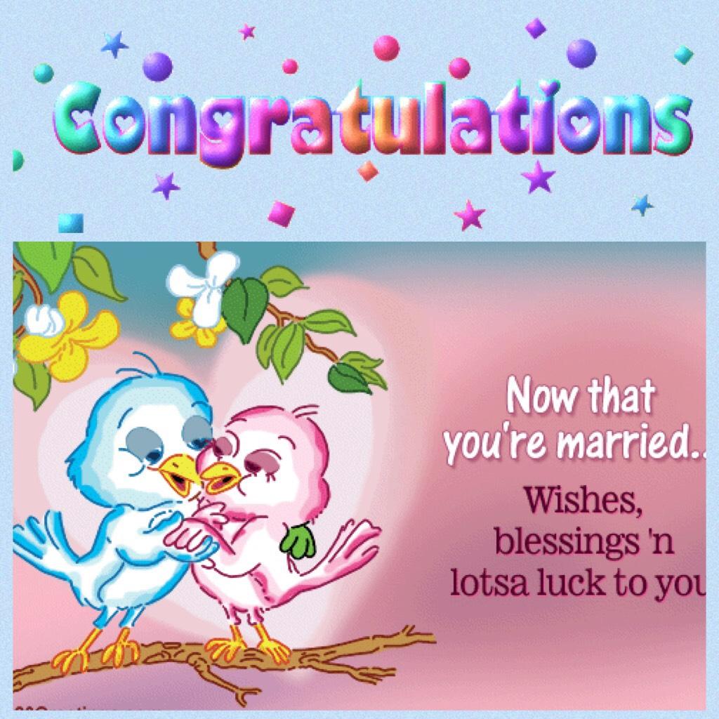 Congrats Wedding lovebirds
