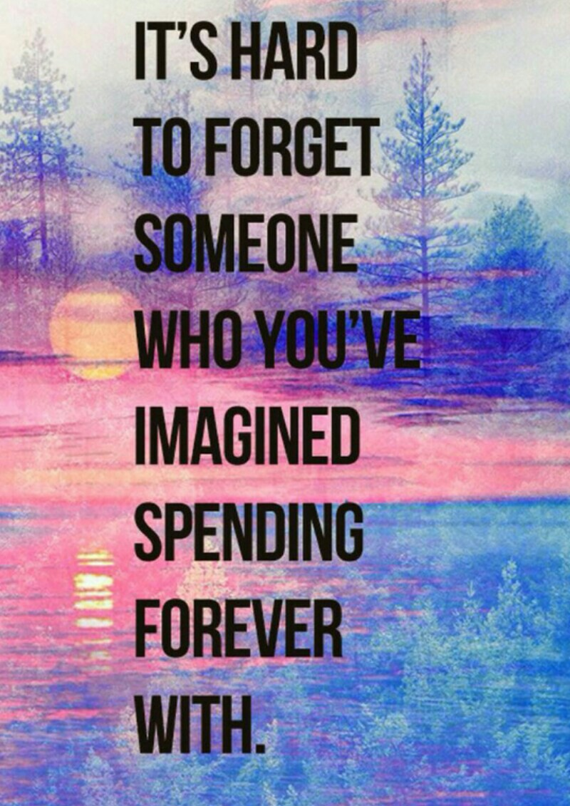 It's hard to forget someone!