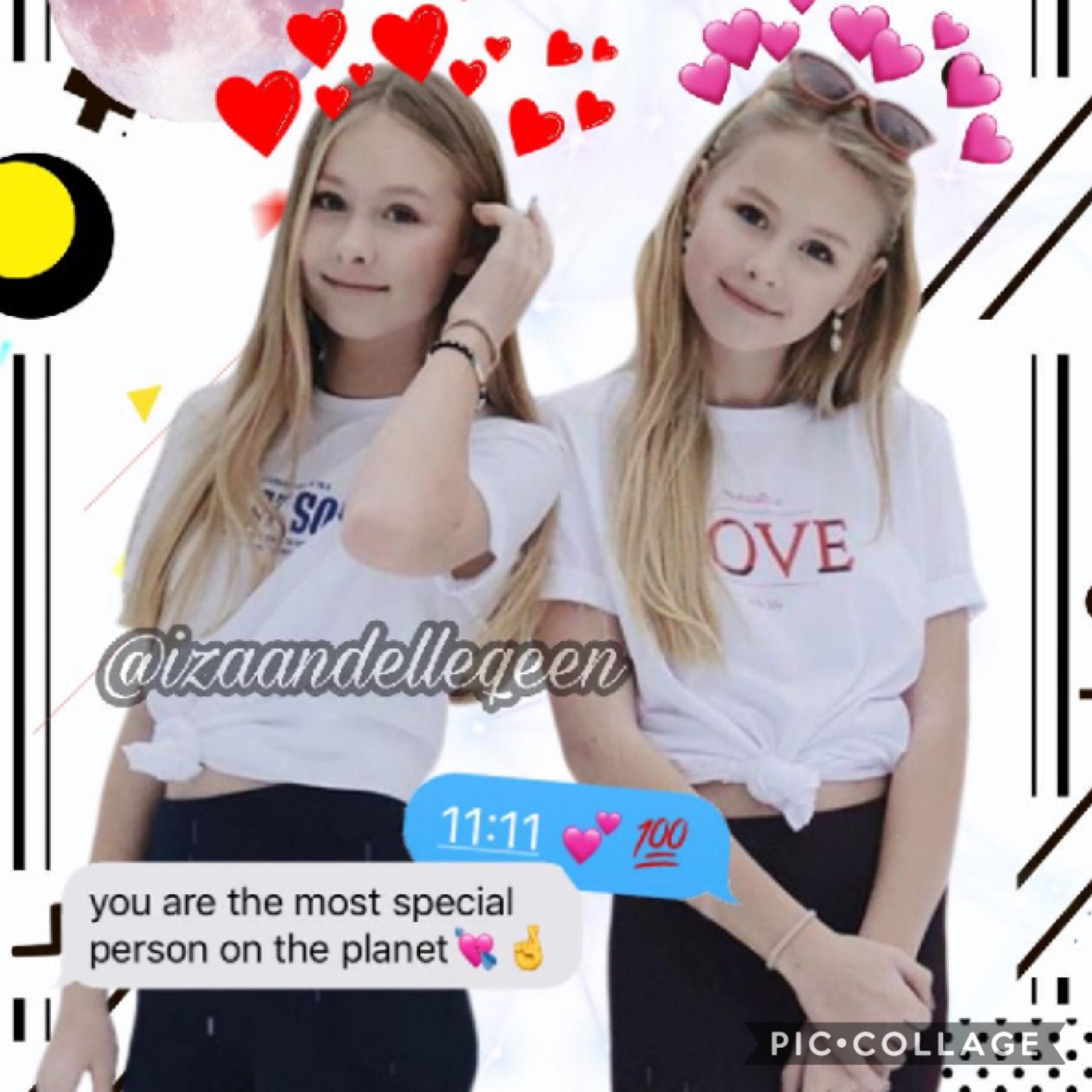 We love r fans they make the best edits thnxx for ur support@izaandellequeen💗💗💗