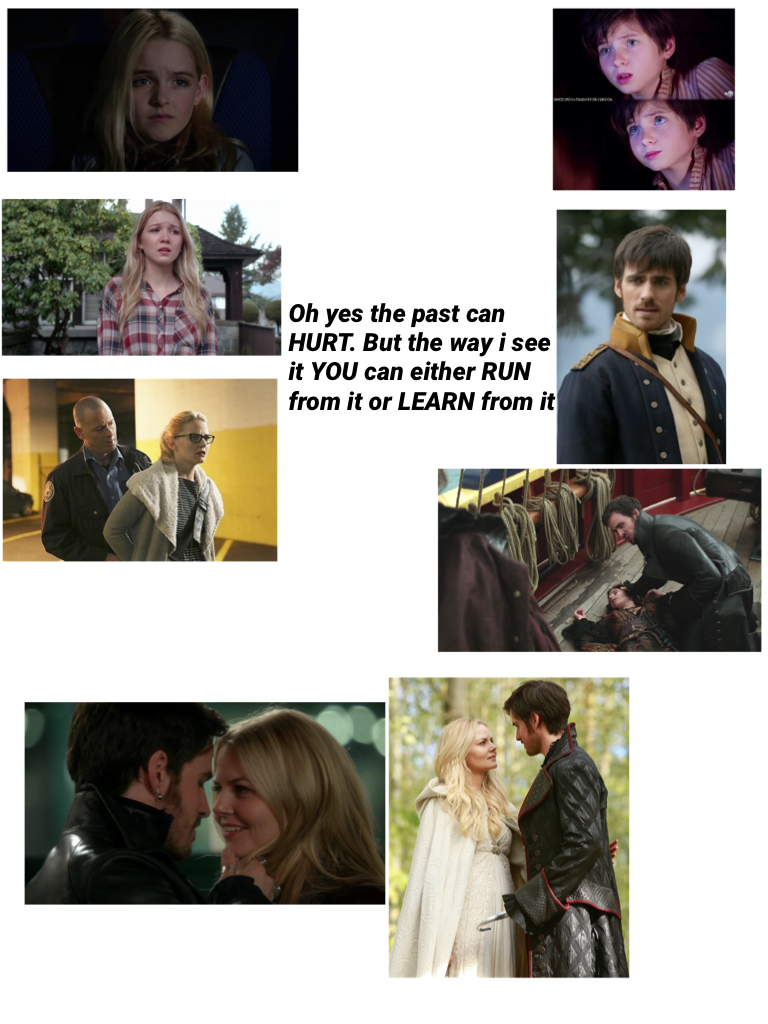 I had to throw in a little lion king in there but anyway . Hook and Emma have similar pasts but they dot realise that , for starters they were both orphans , they both lost people they love but all that changed when they met each other and it brought the,