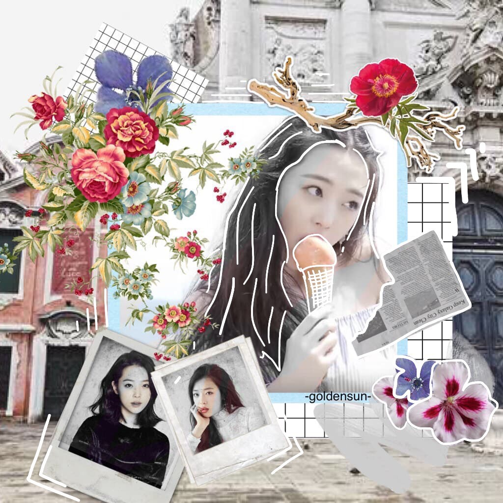 Click Here I tried a new style! How is it? If you don't already know, this collage features Sulli (Korean actress)