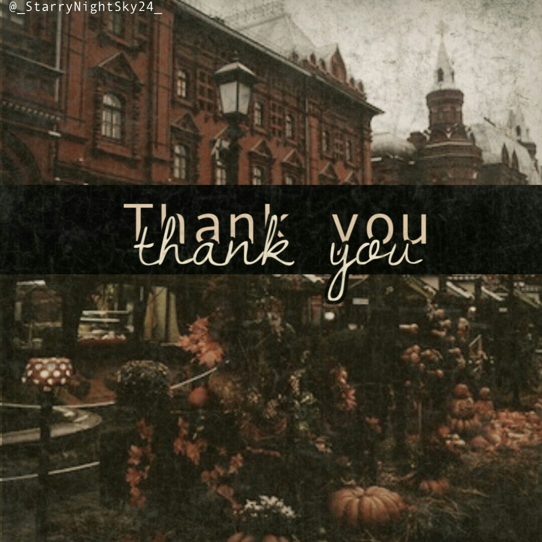 ❤I wanna say thank you to everyone for everything!! Thank you for all the follows, for the likes, for the features and for the friends!!!❤ ❤I don't celebrate thanksgiving  because I believe you should give thanks all the time and here is one of those time