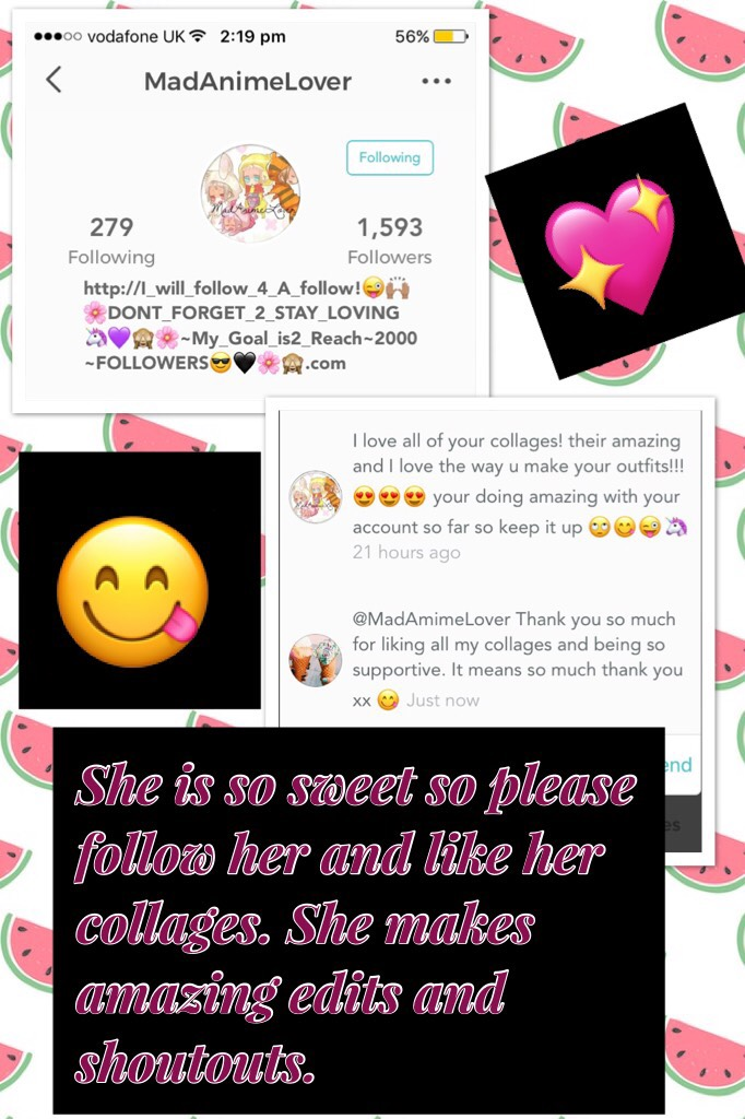 ❤️Tap❤️ Please follow her it would mean a lot to me and to her too. Her edits are so cool definitely check them out ❤️ And once again thank you to the amazing @MadAnimeLover  (😇) for being so sweet and supportive xx - Zara