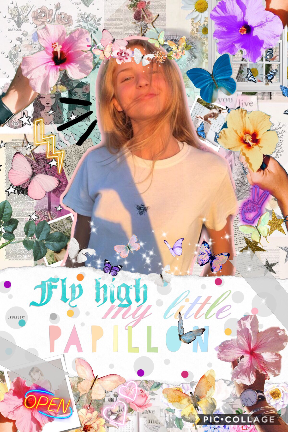 🦋✨Tappy✨🦋 2.24.19.  It's a messy collage but I feel like it's ok 👌🏼 papillon means butterfly 🦋 in French 🇫🇷 I hope you like dis ♥️ rate outa 10 ⭐️ QOTD: Have you ever caught a butterfly 🦋 before? AOTD: no ☹️ but at least I get to see them fly