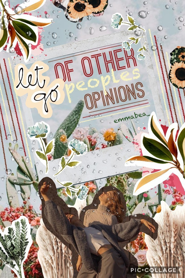 • Obviously this is is like kind of spring themed😂 which I didnt plan to I guess I just like flowers too much ☺🙄 And like the text is an advice to myself cause I listen wayyy too much to other people. It made my life chaotic. I learn things too late... no