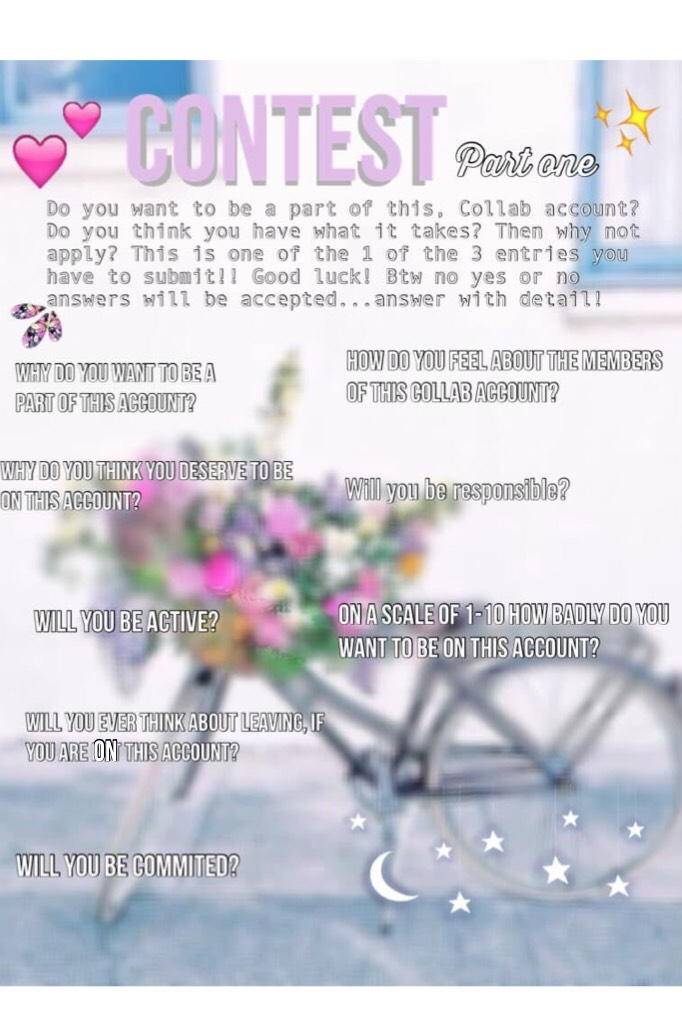 Contest! Part 1! If u are interested pls remix these questions and do parts 2 and 3!