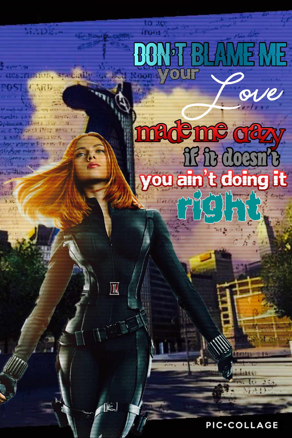 tap❤️ Black Widow Collage! Who else is hyped for the movie?? song-don't blame me by Taylor Swift