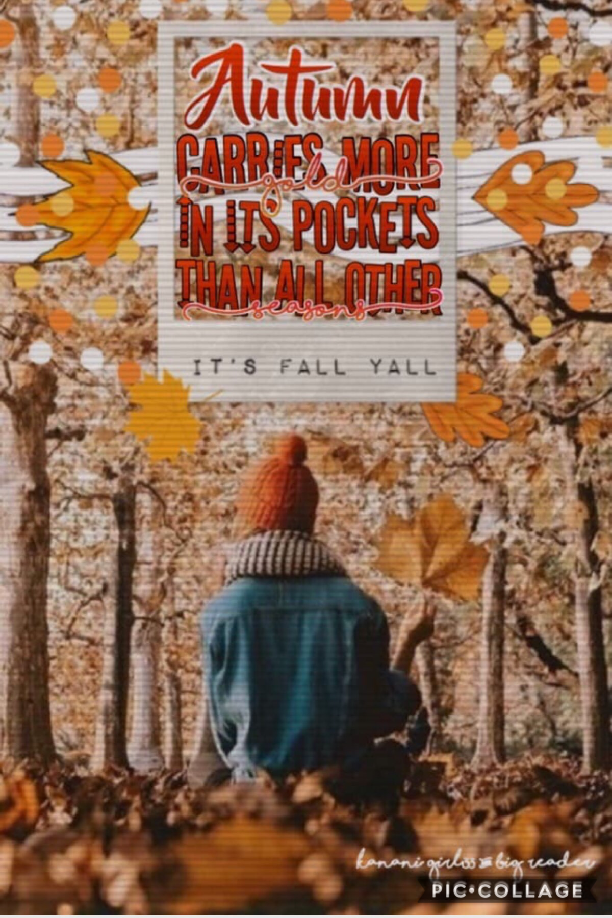 Collab with legendary kanani_girl33 🍁 She did the text and I did the background and pngs!🍂 It's fall y'all! Starting off the season with this first fall post! Hope y'all have a wonderful day!😊✨💖