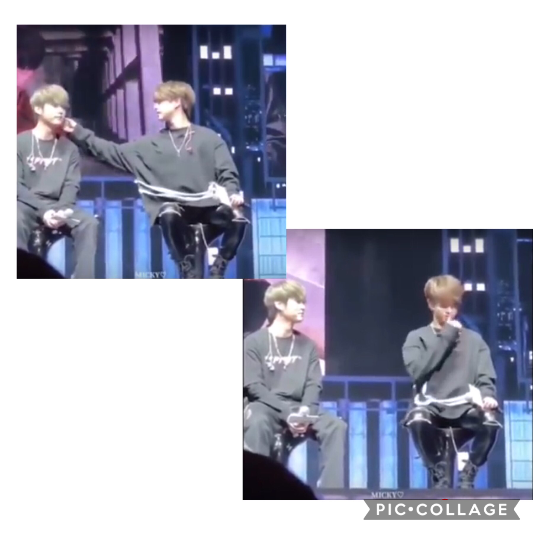 Ji sung took something off Minhoks face and all the stays started to scream and then Jisung got all shy.  LITERALLY SO CUTE I CAN'T