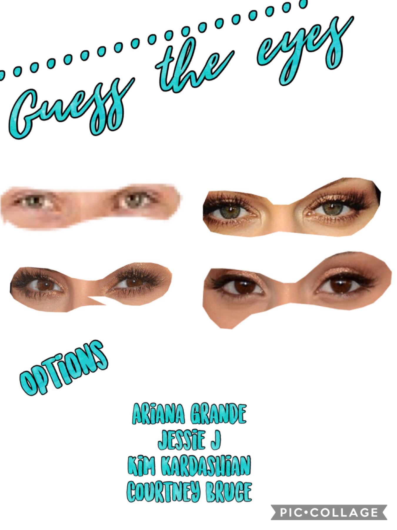 Guess the eyes! To give you some help there are the options below. Plz like this post and follow me. 💕💕