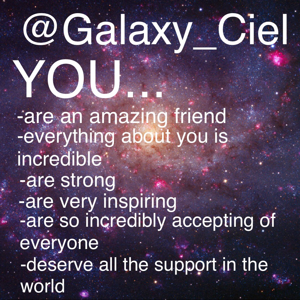 @Galaxy_Ciel you are such a constant supporter of this account and I rlly appreciate it! Thx for existing you amazing human. 👌🏼Thank you so much to @Stromae_trash and @-TheEmoNation- for helping create this!✨