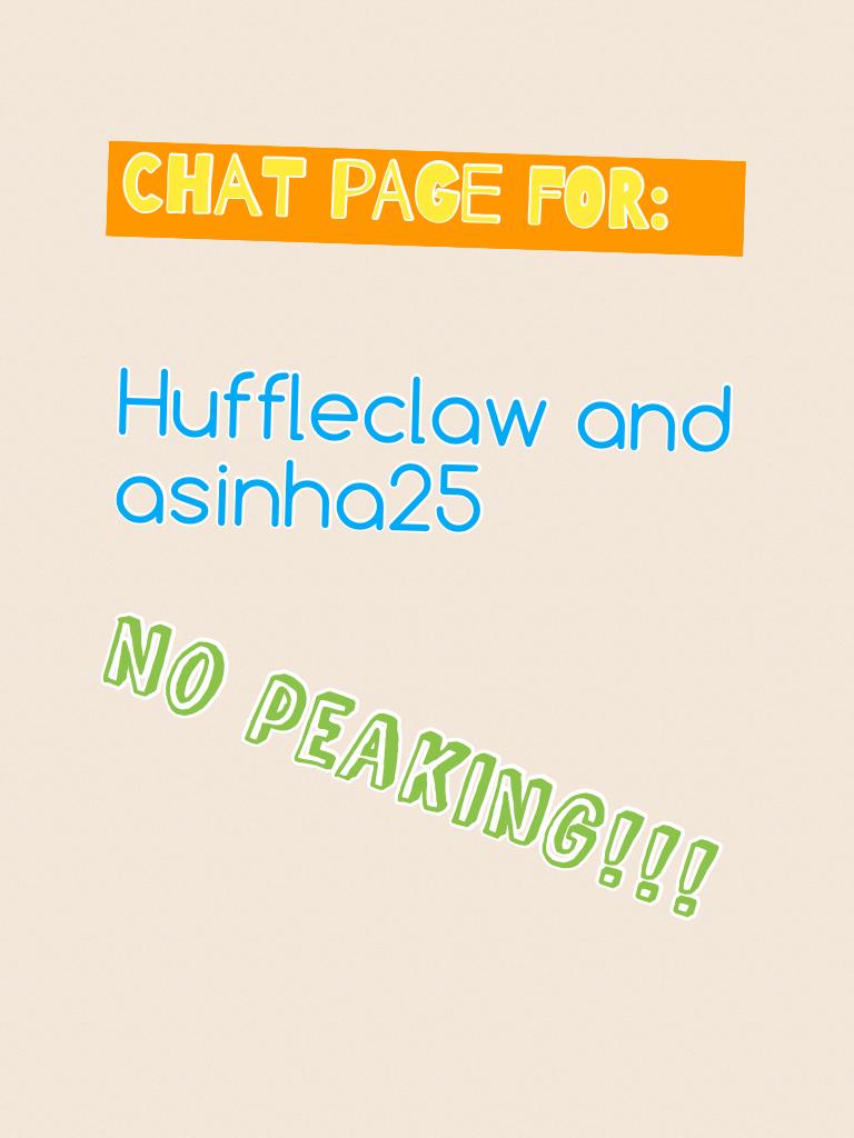 No peaking!!!