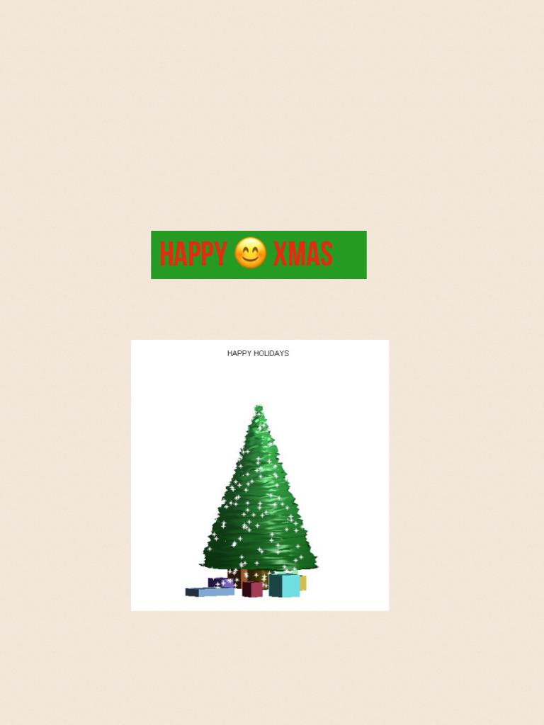 Happy 😊 xmas