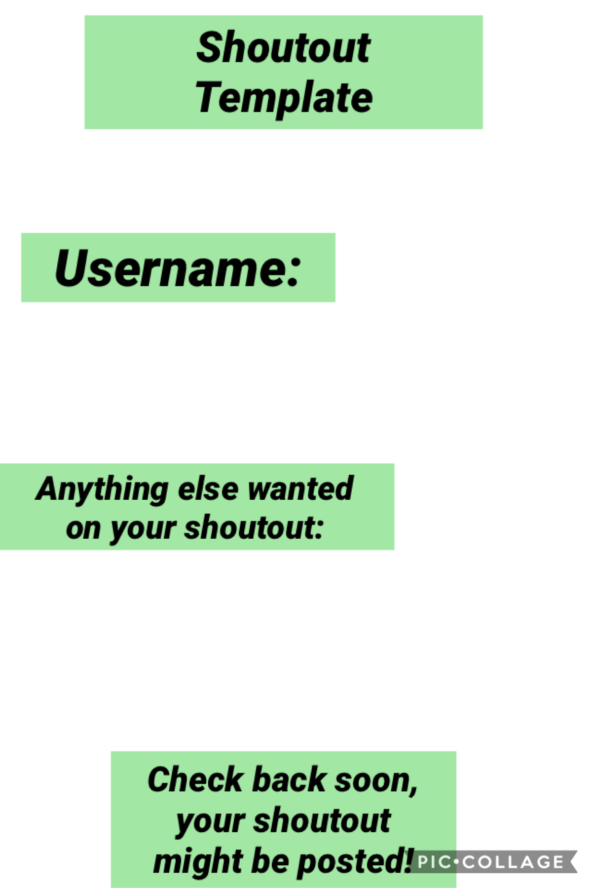 Tap Here is the shoutout template remix it if you want one!