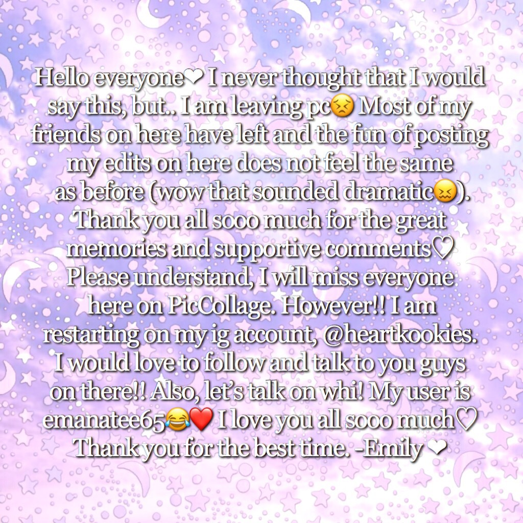 💗CLICK💗 I love you all and I will miss you  guys so much. PLEASE contact me  on my social medias! //Em💗