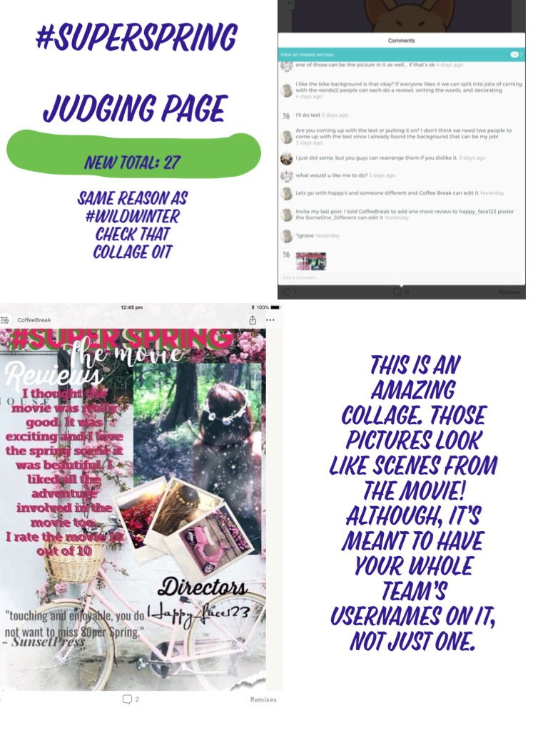 #SUPERSPRING   judging page