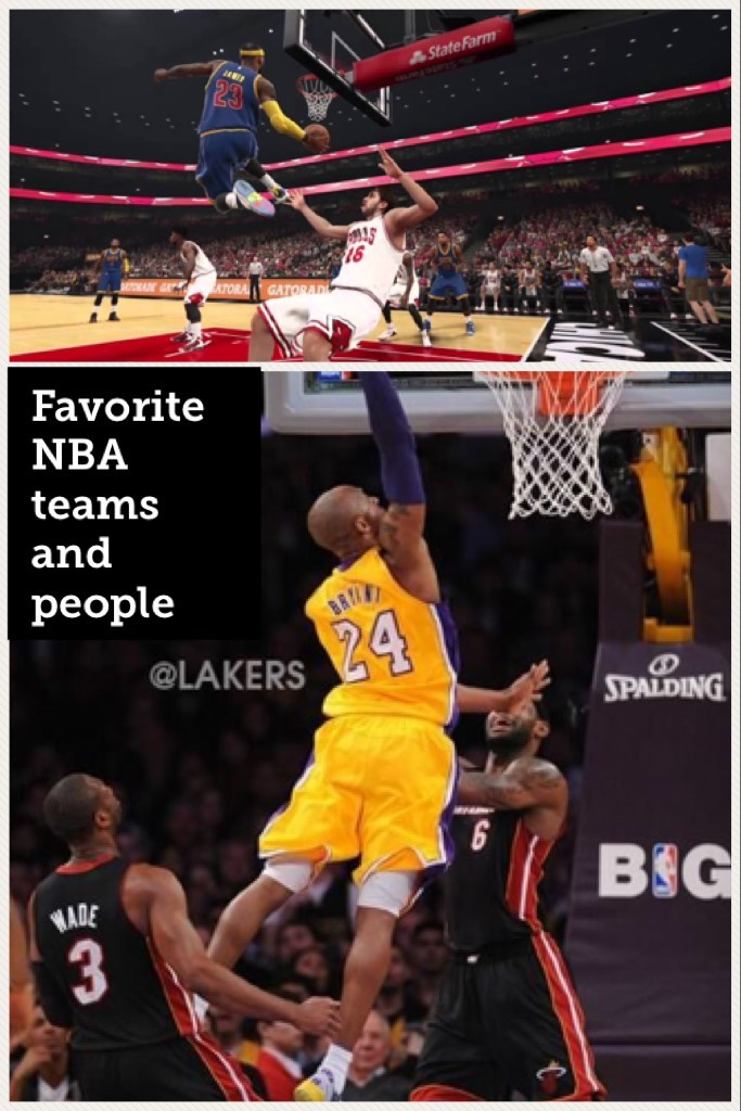 Favorite NBA teams and people
