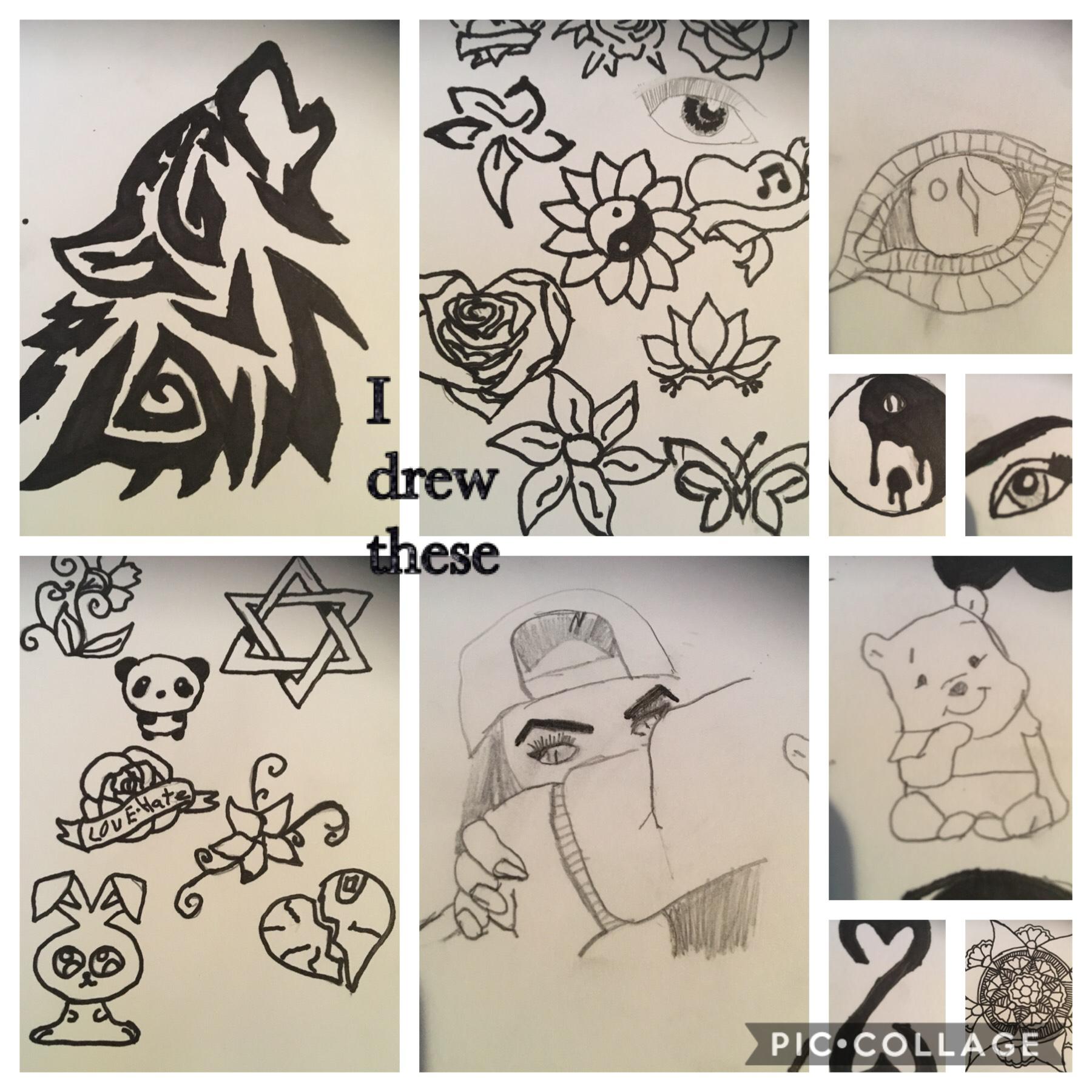 I drew these