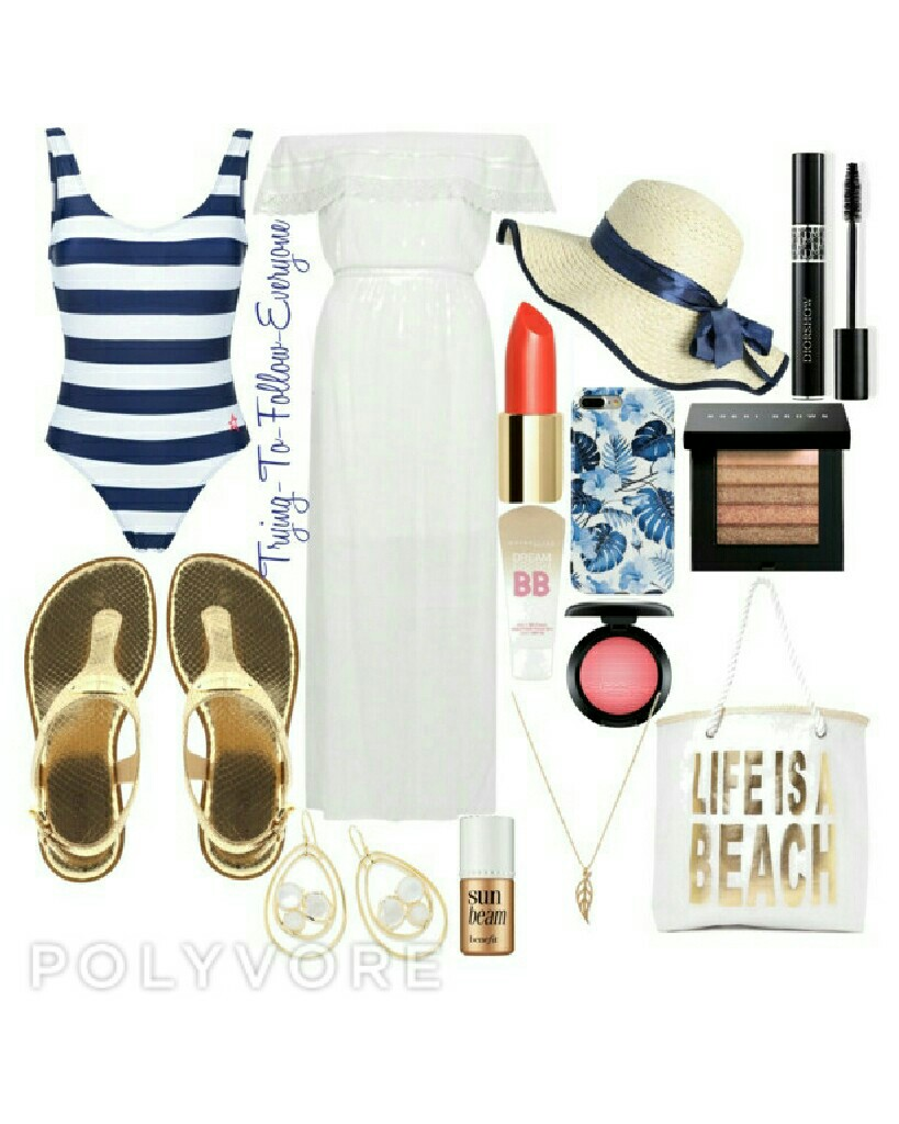This is a beach look that my mum helped me to make ❤ It's perfect if you are going to the beach and you want to look nice and also comfortable. Leyt me know what you think and if you have any outfit suggestions remix or you can comment because i have an a