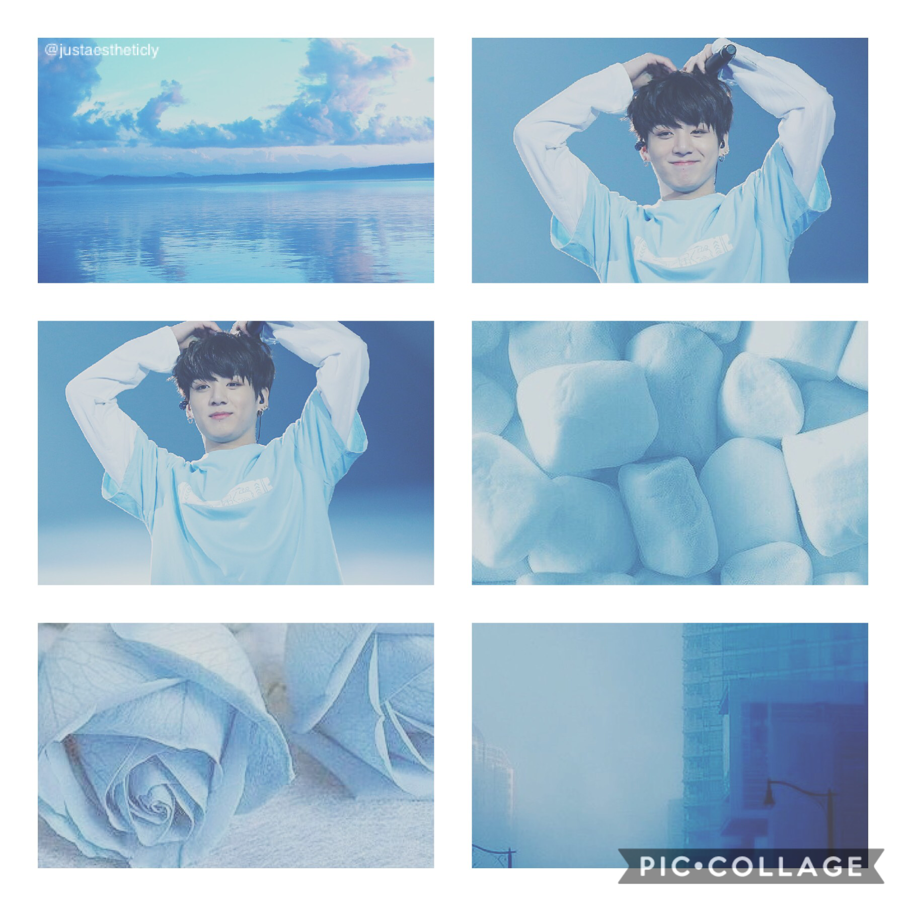 BTS Jungkook TaP Jungkook light blue Aesthetic/Moodboard Hope y'all like!