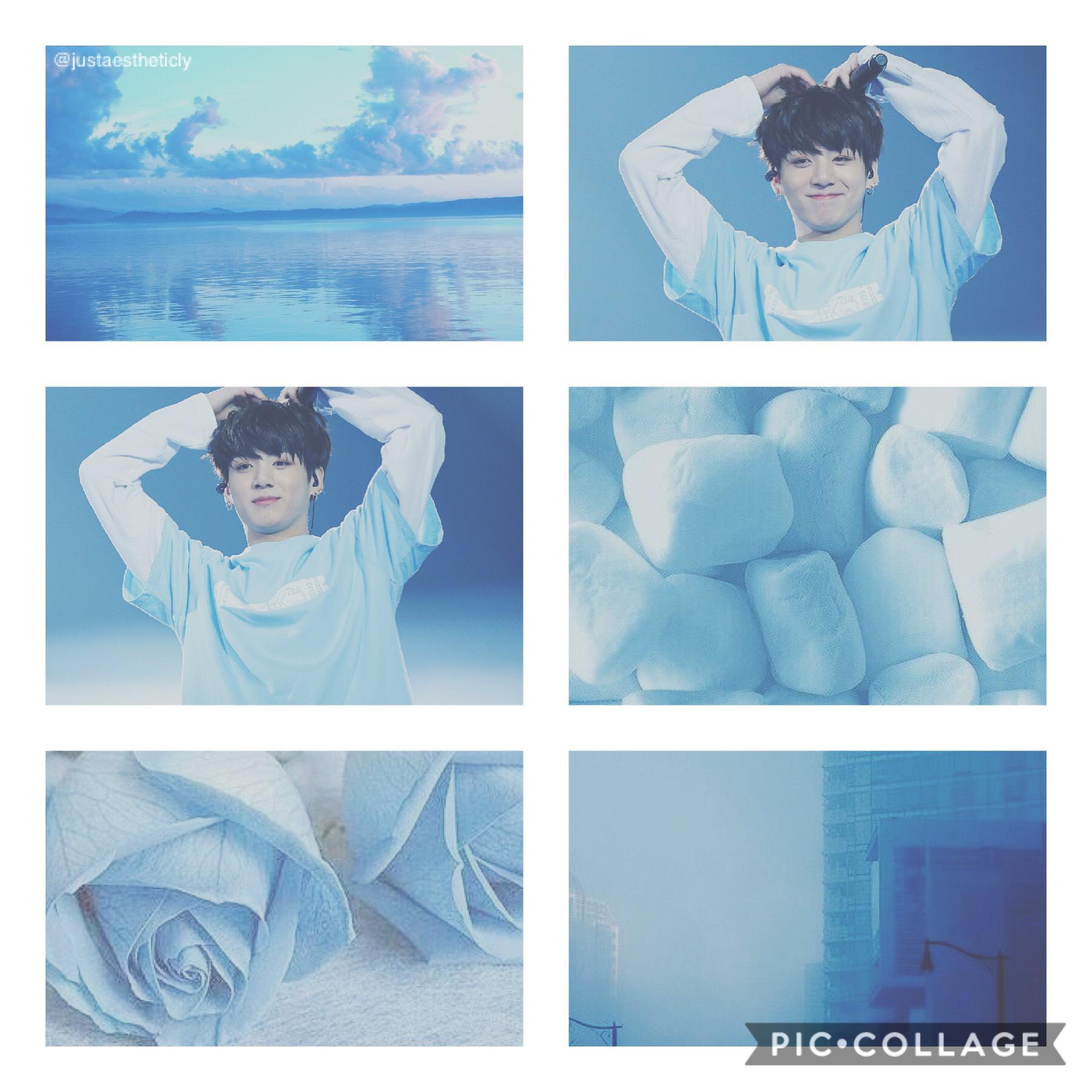 BTS Jungkook TaP Jungkook light blue Aesthetic/Moodboard Hope y'all like!