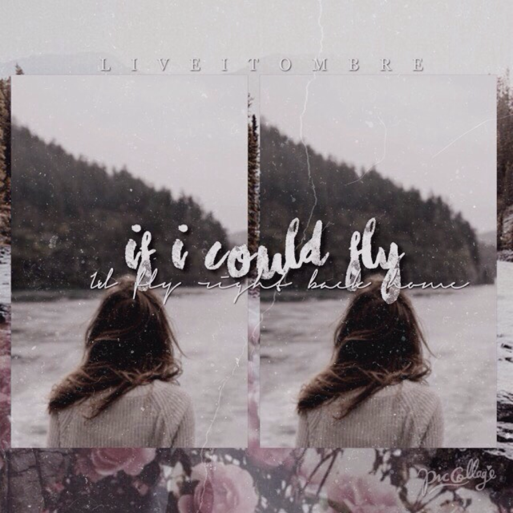 """▪️TAP HERE▪️ Yes! Finally a new collage! 🙂 Lyrics from One Directions """"I Could Fly"""" I hope you like this collage and the new styles! 😘"""