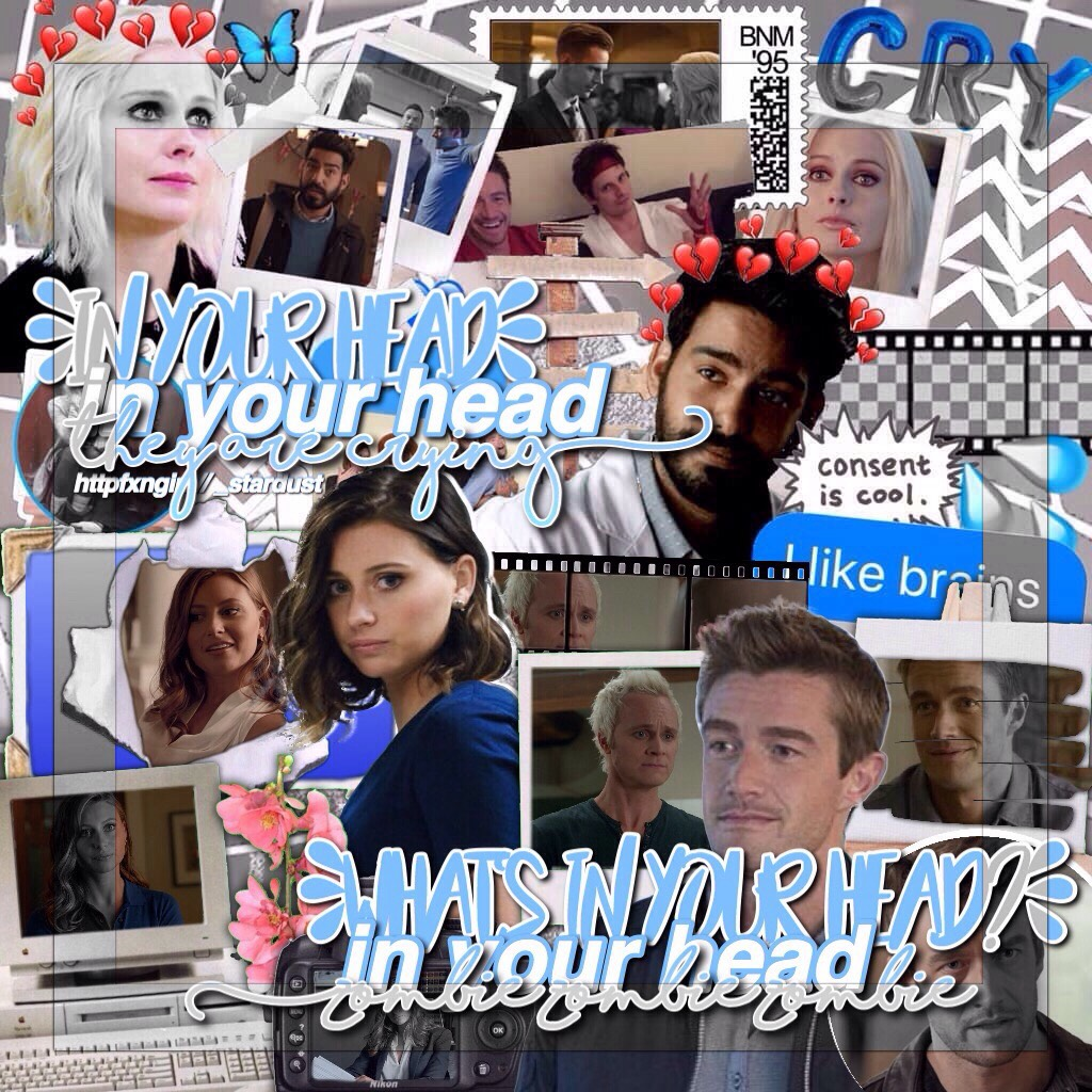 collab with the amazing @_stardust 💞💞  q// favourite izombie character? a// peyton, isobel, and ravi 💙
