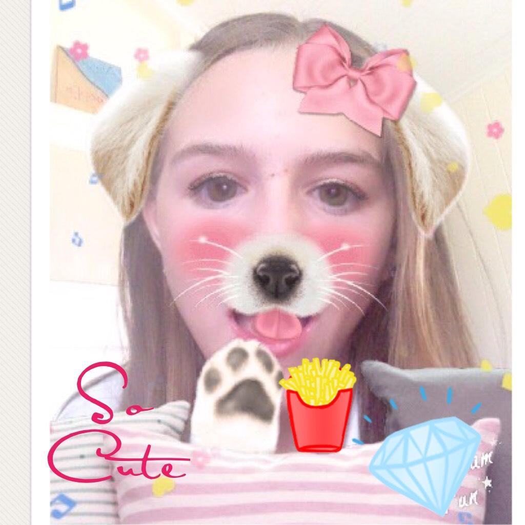 So Cute It is on the app YouCam Fun