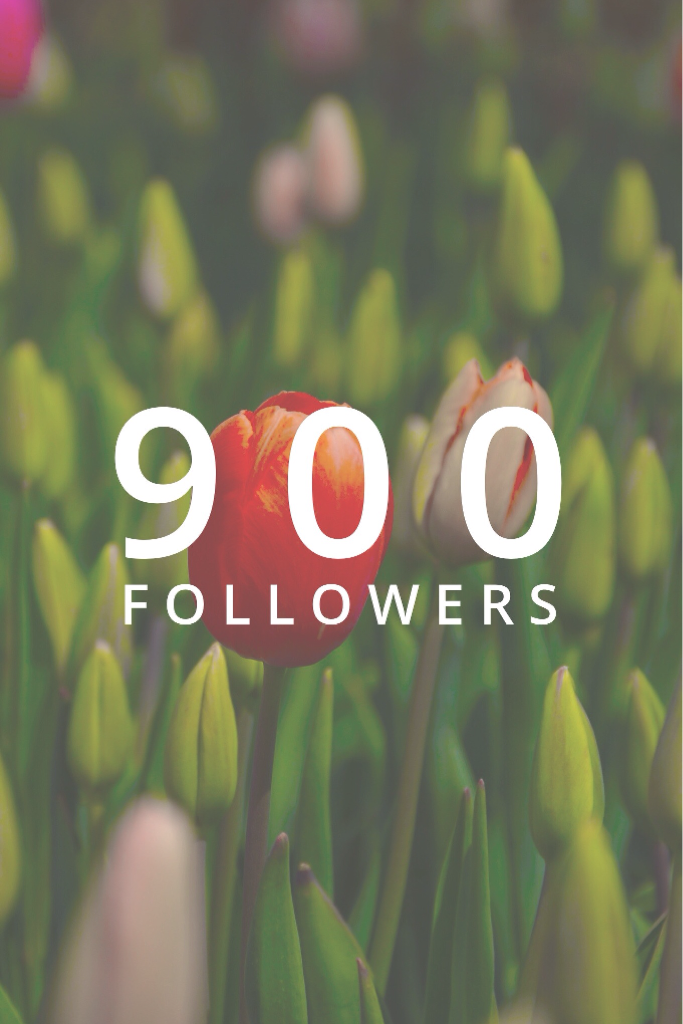 Tap🌷 Tysm for 900 followers! 👌 💛