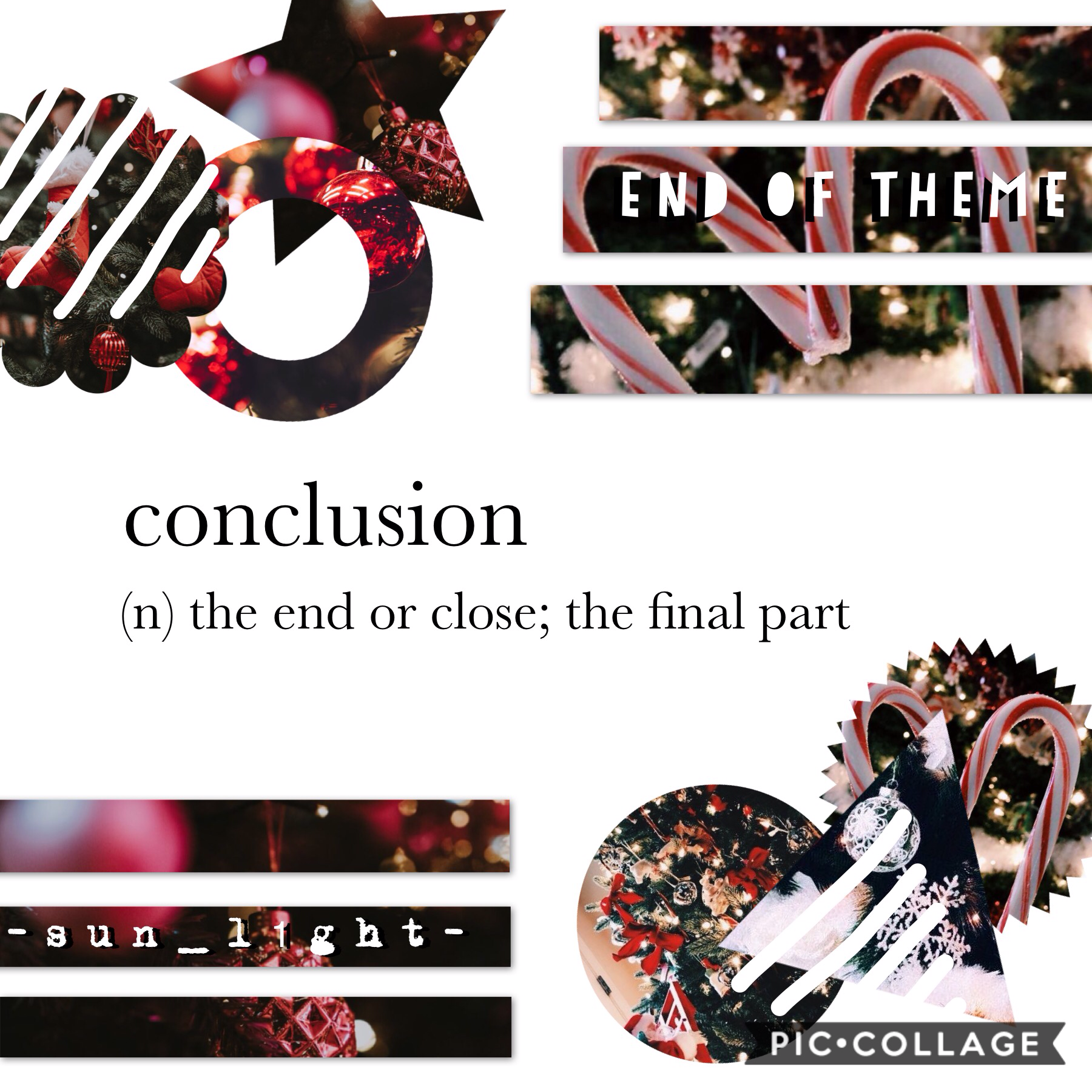 hit the star --> ⭐️ I'm sad to say, it's the end of this theme! I wanted to end off festive as Christmas draws closer, which leads to the Christmas countdown and lots of new festive collages coming up soon! talk later! ✨🎄 20/12/19 💞 m e l