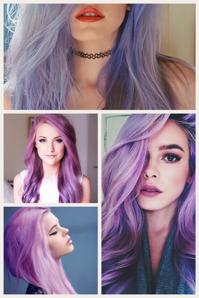 The stages of my purple hair.