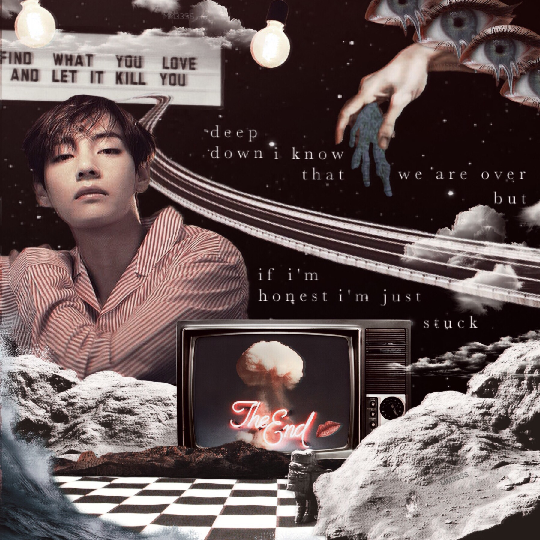 maybe / janieck x BUNT / Apr. 26, 2019  created for contest held by 1LLUS1ONS  i once thought i could post 1 edit a week. now i aim for at least 1 edit a month lol.  image: kim taehyung (V)
