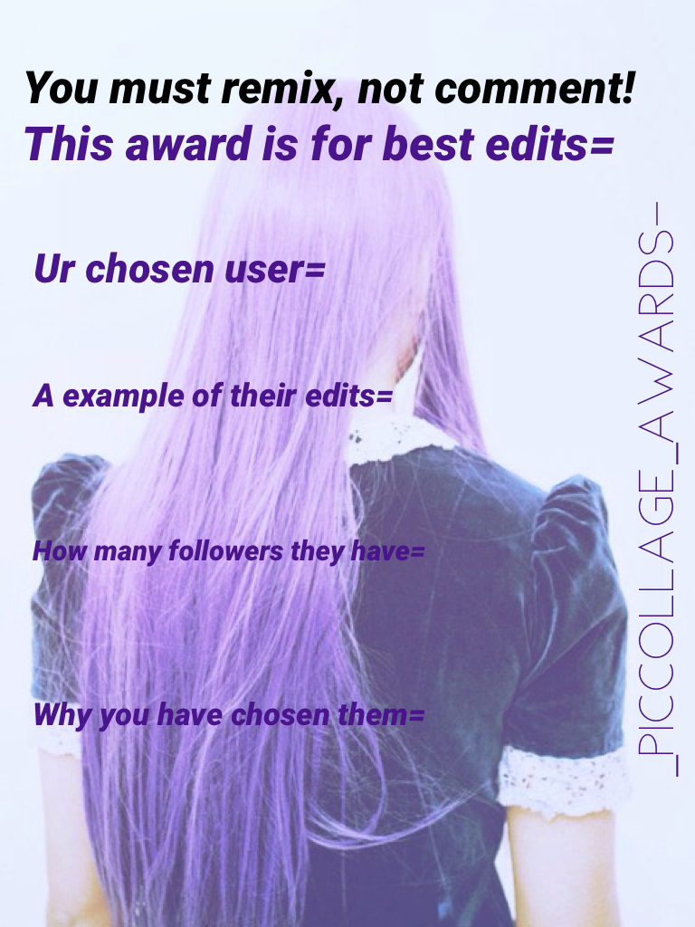 This award is for best edits=