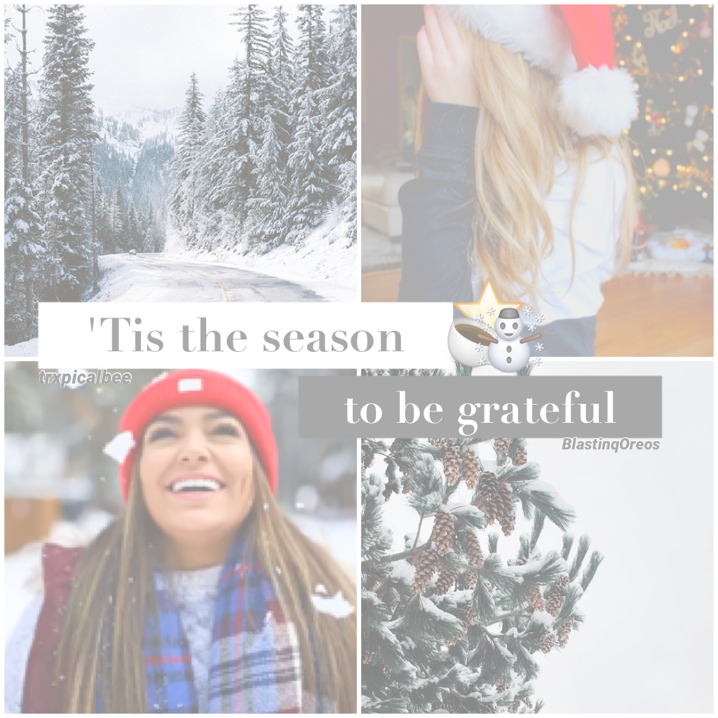 (11.26.16)   A remake of one of my past edits. I miss last Christmas. ⭐️ QOTD: winter or fall?  AOTD: winter! ☃