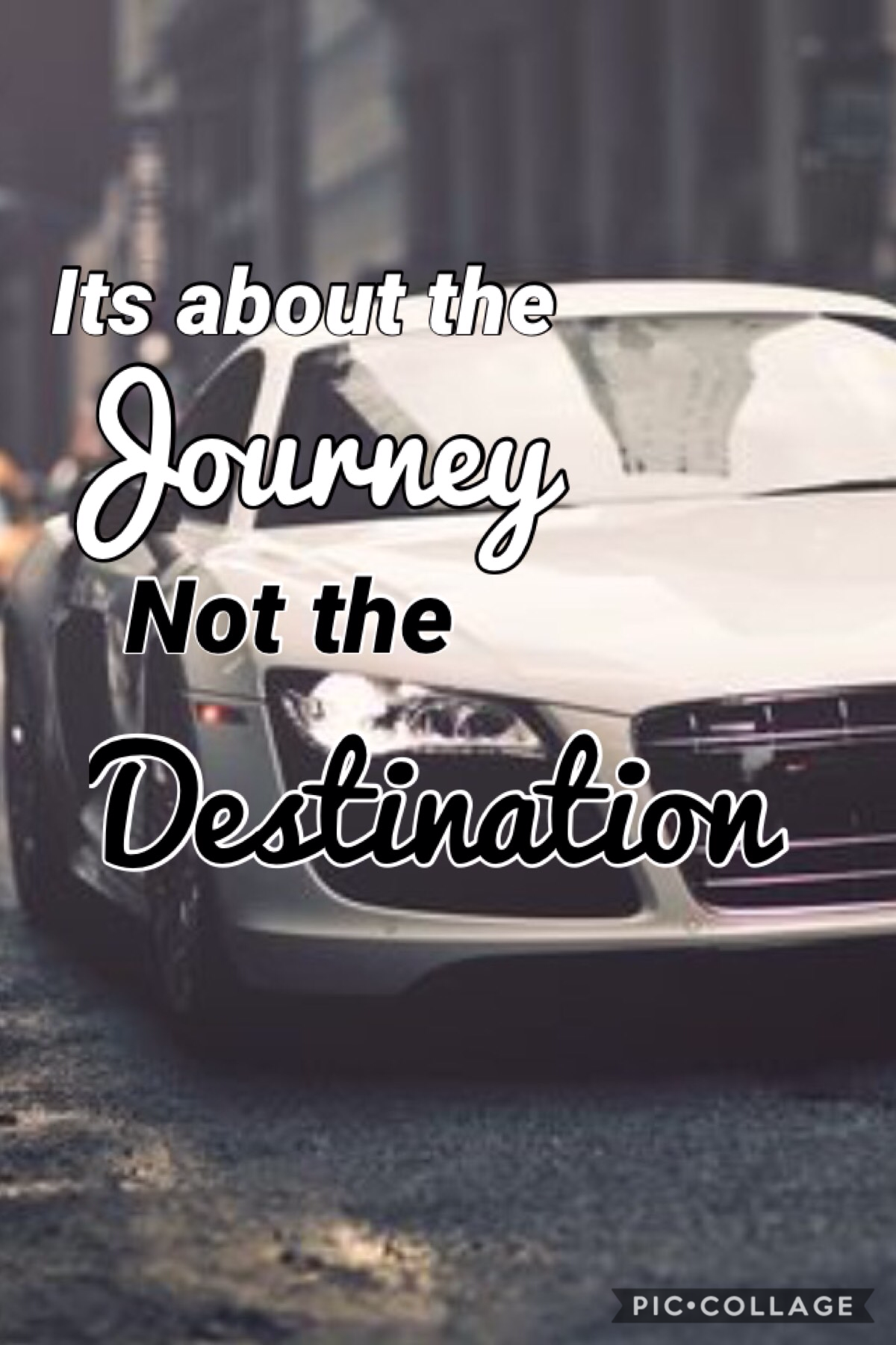 It's about the journey not the destination