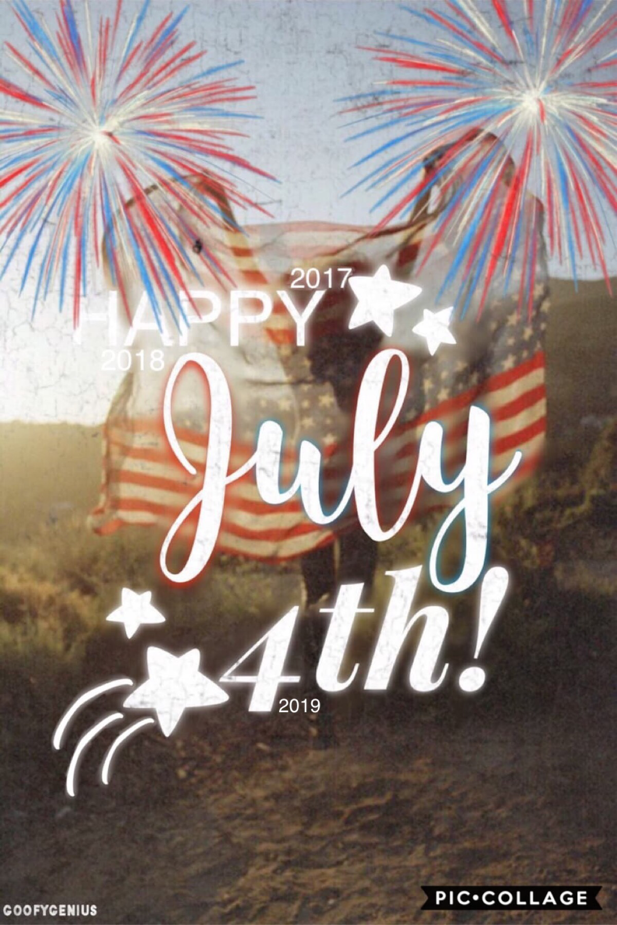 💥Tap Here💥 Happy 4th! Remember? I'm going to post this collage every year! Are you sick of it yet? It's only been 3 years, LOL. Rate 1-10 please. QOTD: Hot or Cold? AOTD: Cold