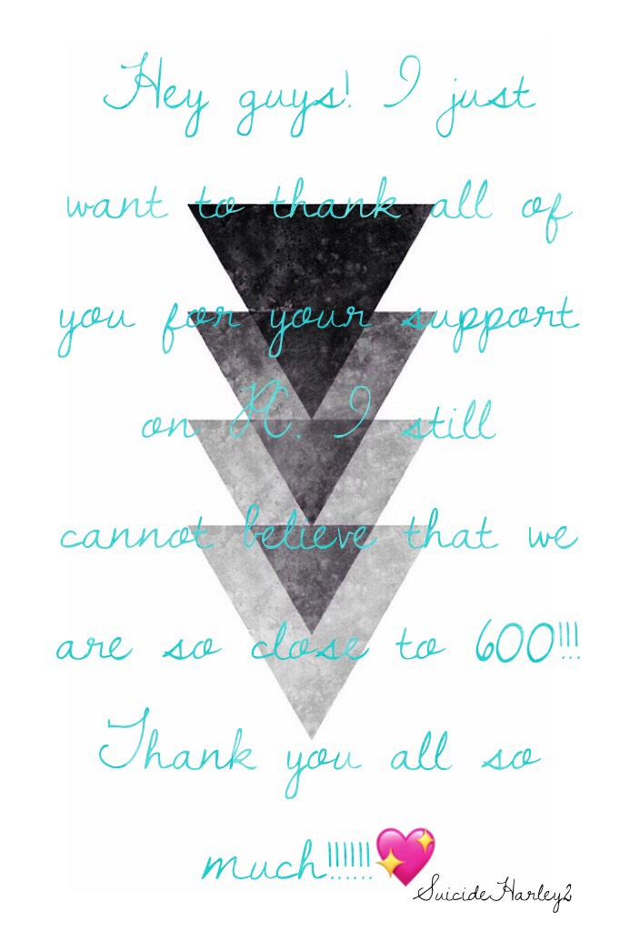 Hey guys! I just want to thank all of you for your support on PC. I still cannot believe that we are so close to 600!!! Thank you all so much!!!!!!💖