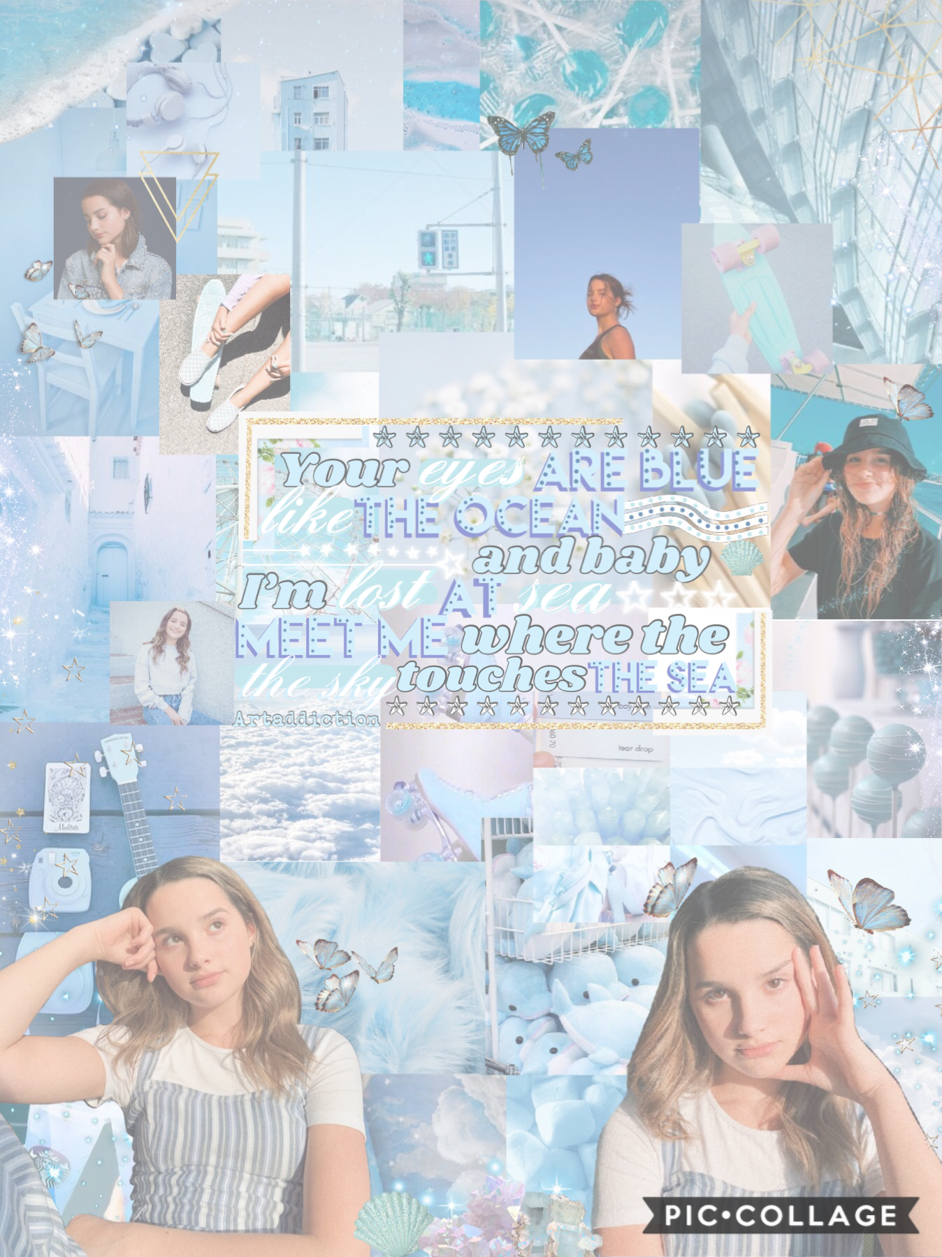 Here's my entry to Mary11am's collage contest,Make sure to check out her awesome collages 🦋💙💙