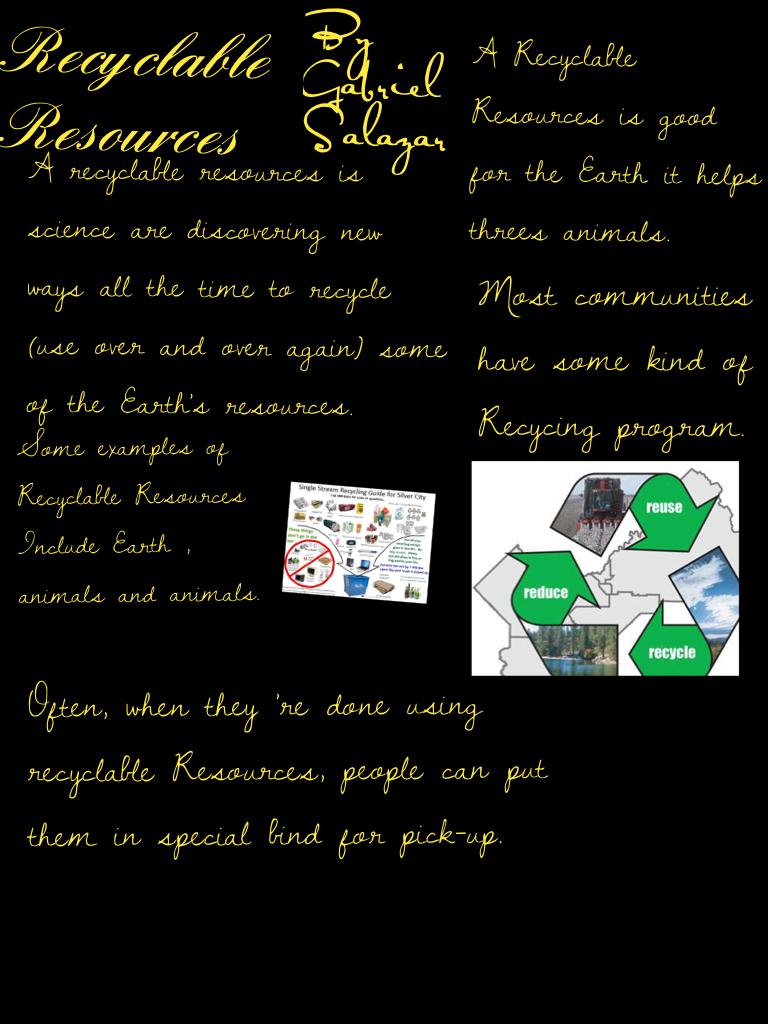 Recyclable Resources