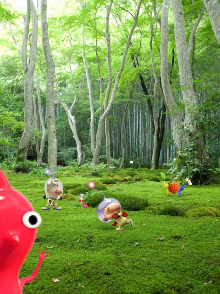 Louie and I got in a fight over who gets the red berries, but the Pikmin snuck off with it mid-battle!