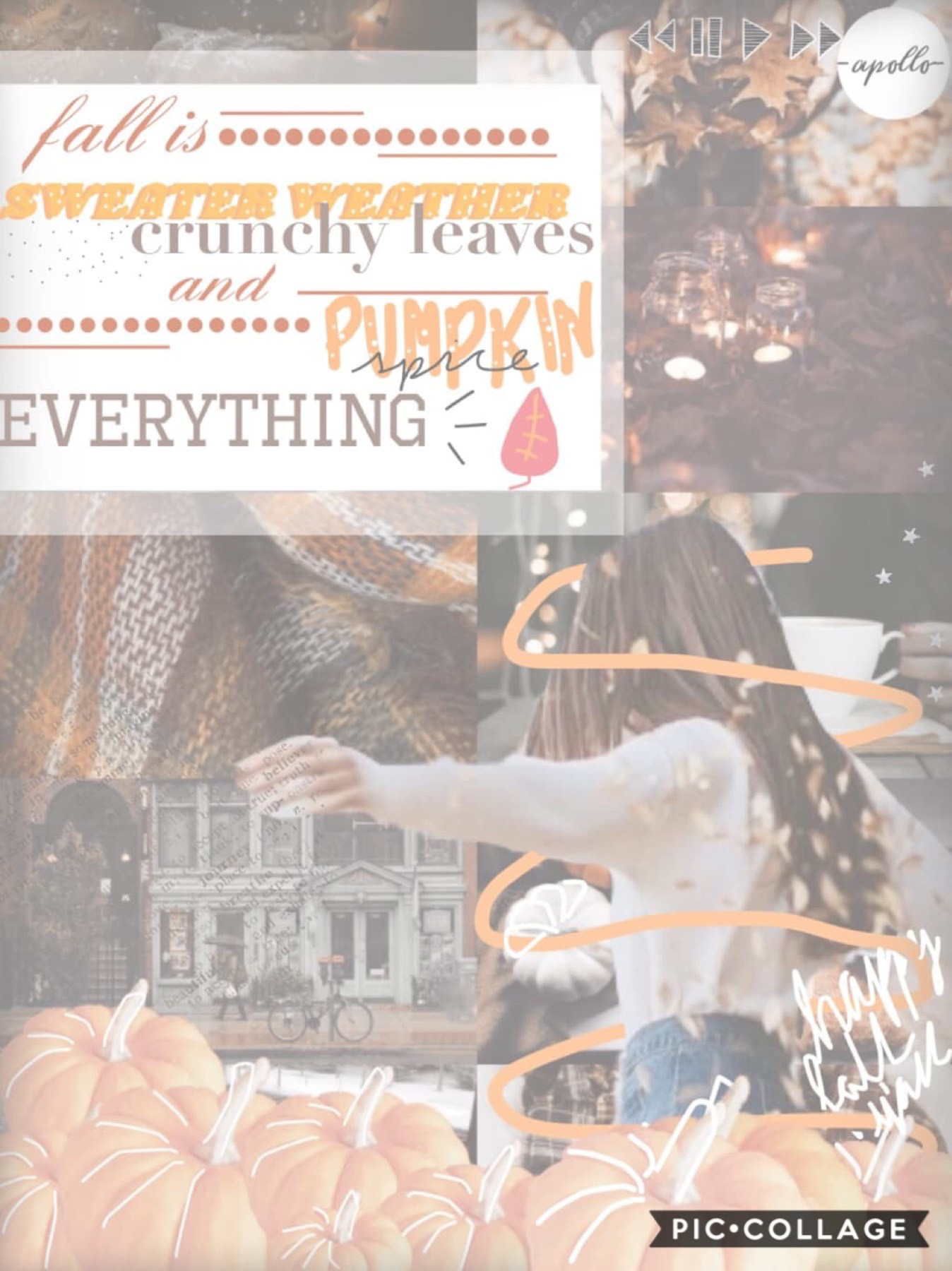 🍂tap🍂  This got deleted for some reason so I'm reposting☹️ well at least it's closer to fall now love y'all! -liv  QOTD// favorite season? AOTD// fall☺️🍁