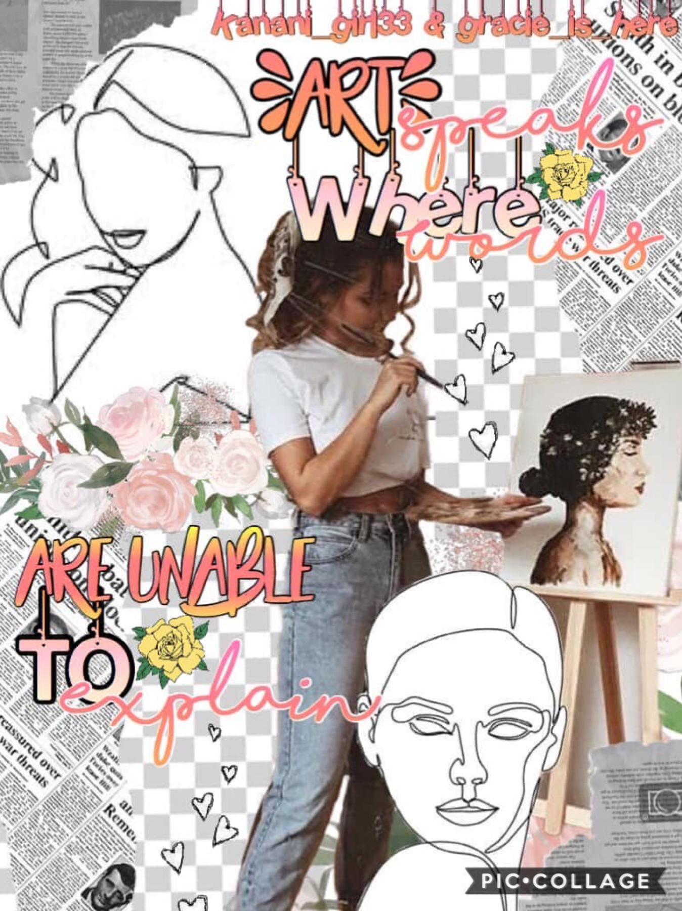 Collab with.... Gracie_Is_Here!!! You guys really need to go check out her account! Qotd: what's your favorite type of art?